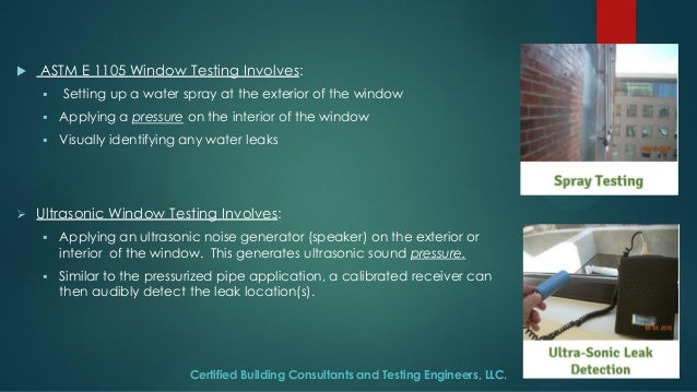 Ultrasonic Leak Detection used in Window Testing