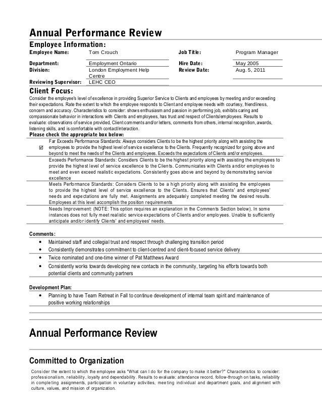 tom u0026 39 s performance review