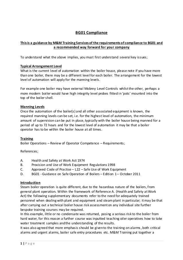 Steam Boiler BG01 Compliance with Flomar