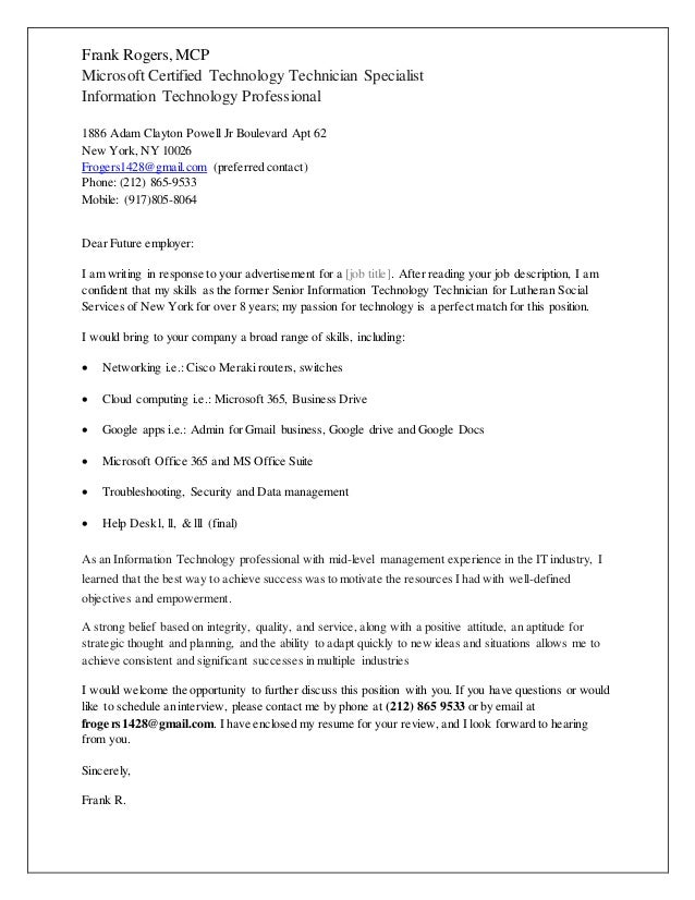 mid level cover letters