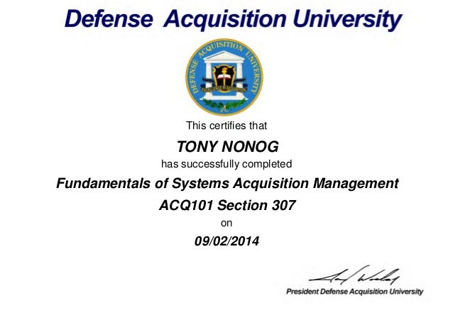dawia management certificates fundamentals systems slideshare acquisitions course acquisition upcoming