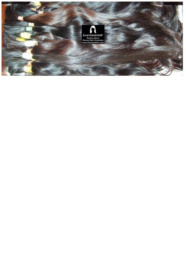 Very fine raw human hair. Natural high luster. Uncolored. From European ladies
