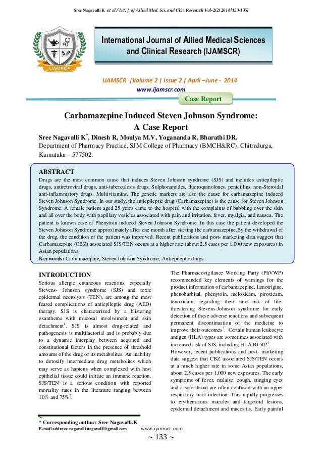 Sree Nagavalli K et al / Int. J. of Allied Med. Sci. and Clin. Research Vol-2(2) 2014 [133-135] * Corresponding author: Sr...
