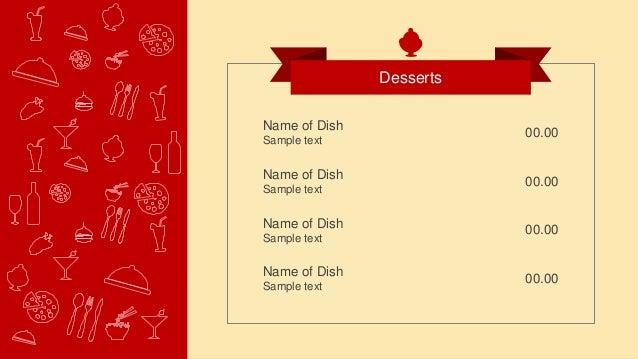 Slidemodel flat restaurant menu powerpoint template toneelgroepblik Gallery