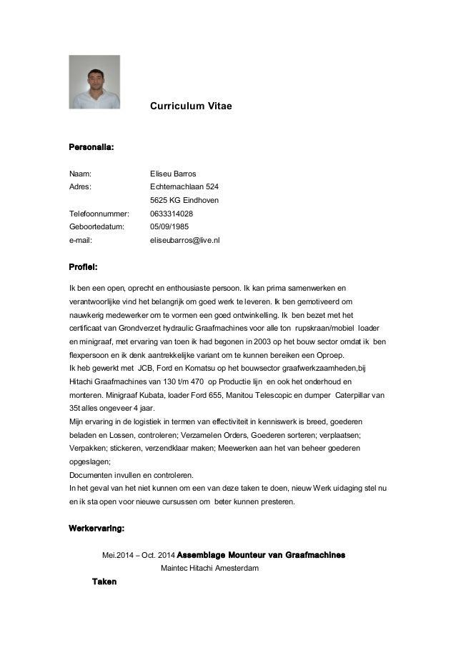 cv logistiek medewerker