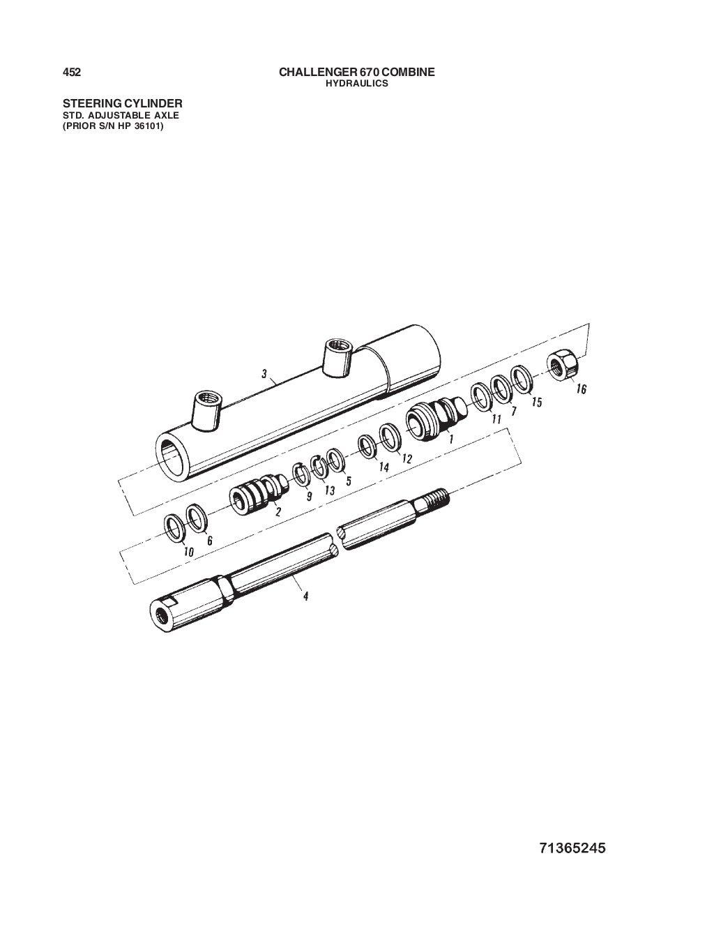 670 Challenger combine parts manual