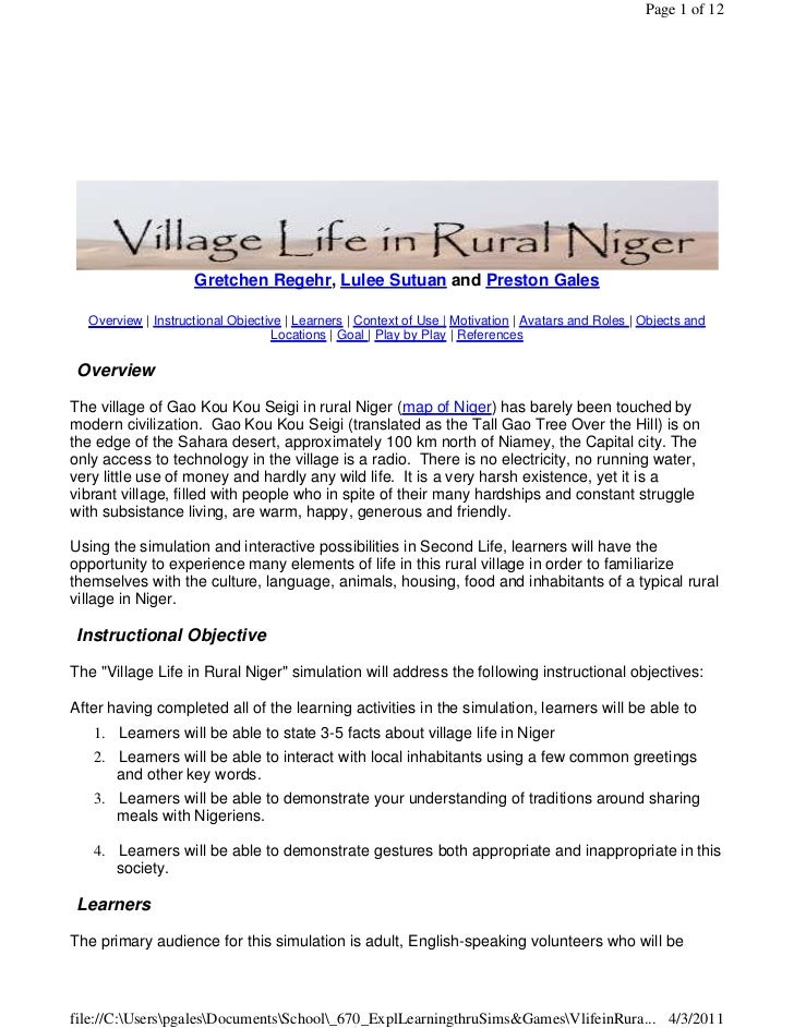 Page 1 of 12                    Gretchen Regehr, Lulee Sutuan and Preston Gales  Overview | Instructional Objective | Lear...