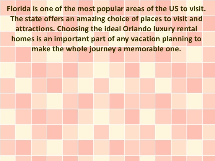 Florida is one of the most popular areas of the US to visit. The state offers an amazing choice of places to visit and   a...