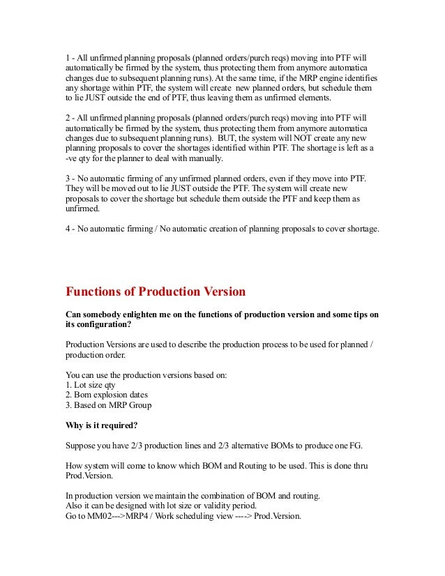 6714600 Sap Production Planning Table