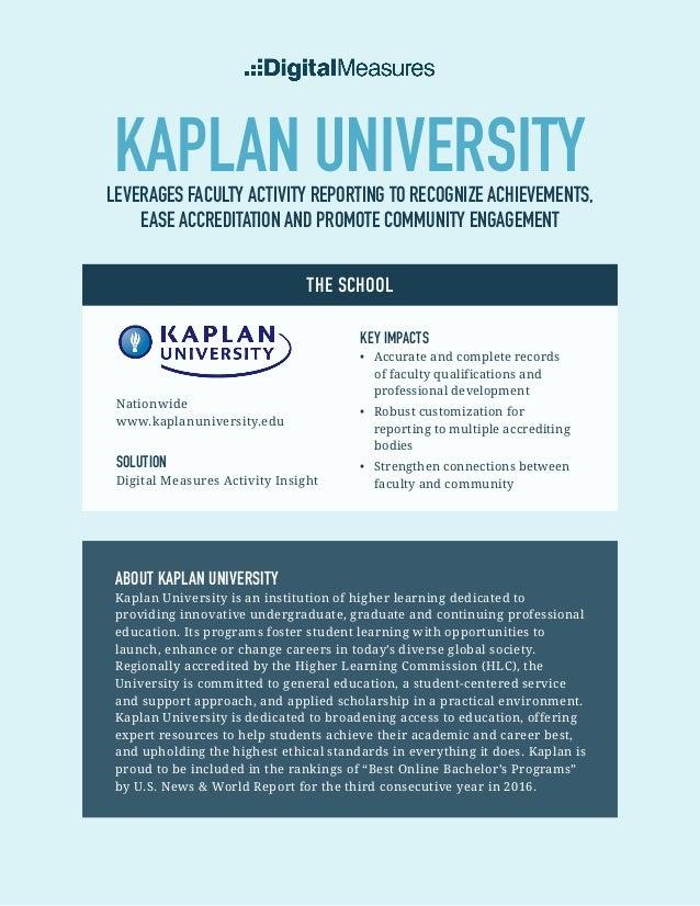 Kaplan Case Study