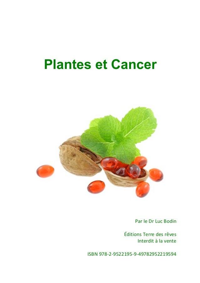 Plantes et Cancer                                              !                                              !           ...