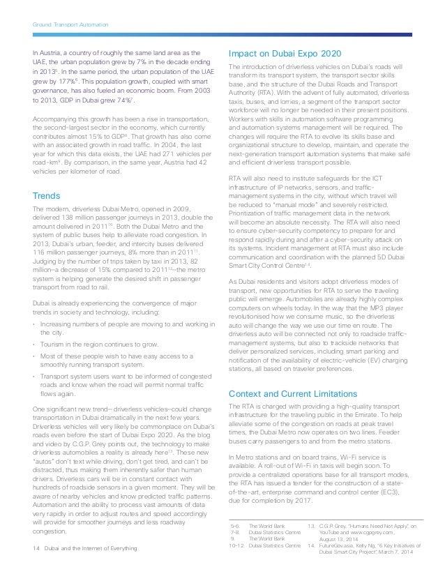 Cisco Dubai Expo 2020 Internet of Everything Vision Paper