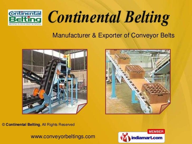 Manufacturer & Exporter of Conveyor Belts <br />