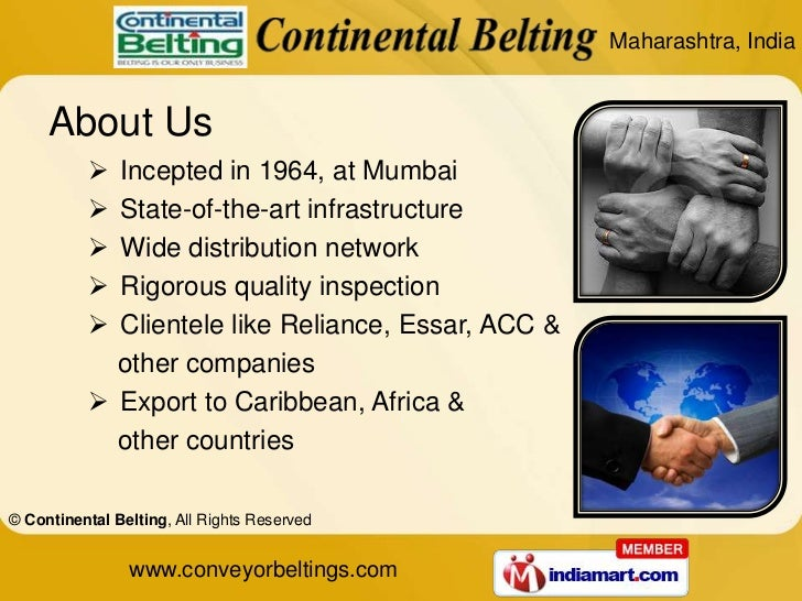 Products Warranty by Continental Belting Mumbai Slide 2