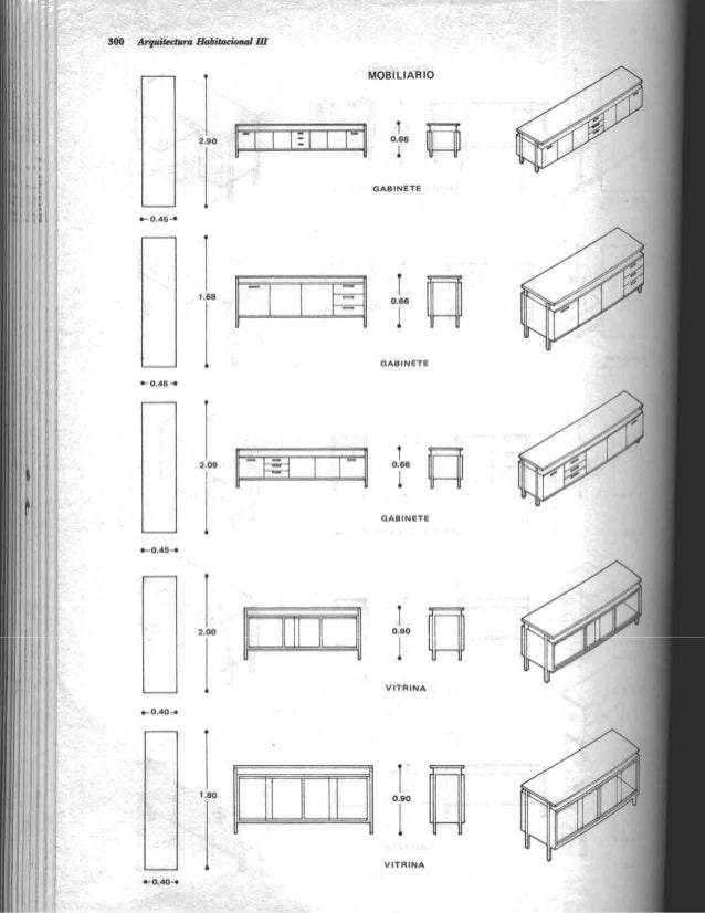 Arquitectura habitacional plazola for Medidas de mobiliario de una casa
