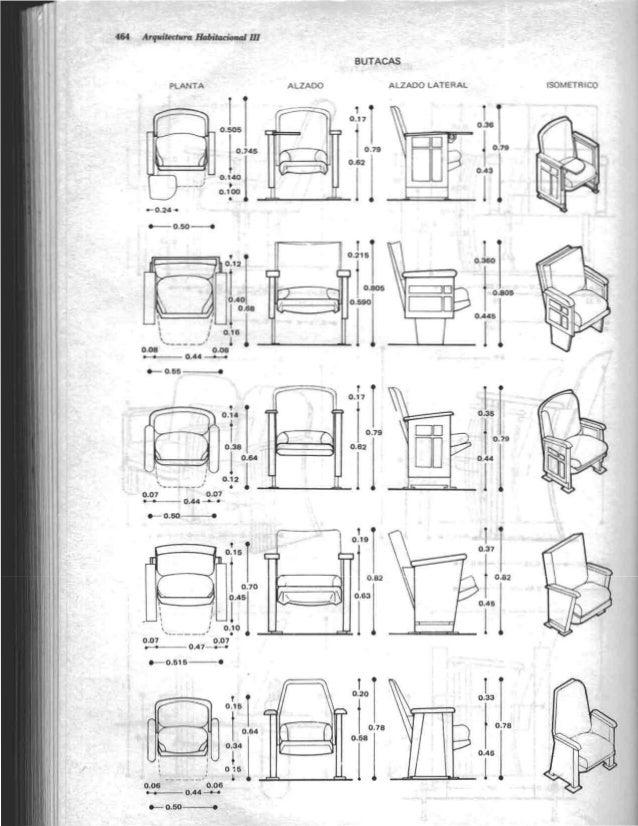 Arquitectura habitacional plazola for Medidas de muebles de oficina pdf