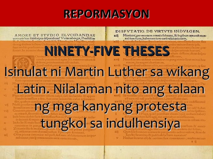 ninety five theses definition What did luther actually say in the 95 theses that sparked the protestant reformation.
