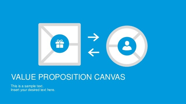 VALUE PROPOSITION CANVAS This is a sample text. Insert your desired text here.