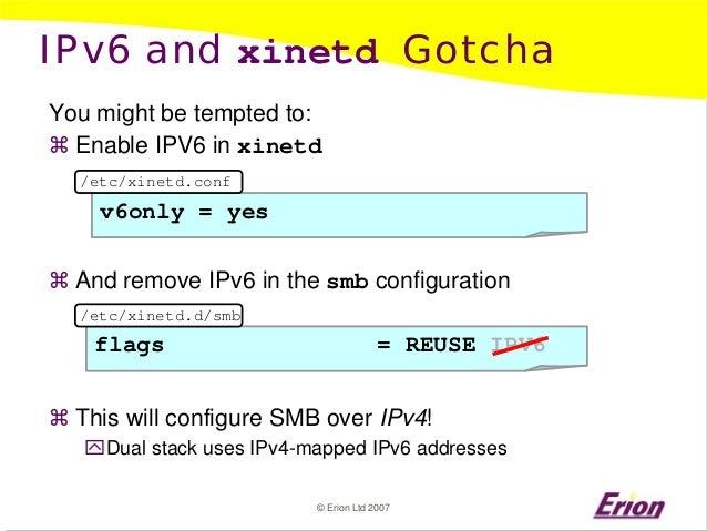 Samba and Vista with IPv6