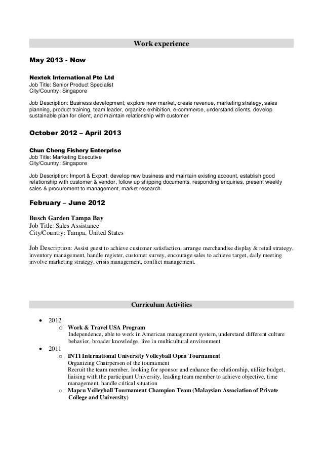 Product Specialist Resume Voluntary Action Orkney Choose  Product Specialist Resume