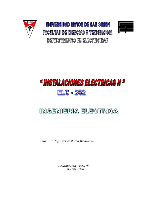 UMSS Autor : Ing. Germán Rocha Maldonado COCHABAMBA – BOLIVIA AGOSTO, 2001
