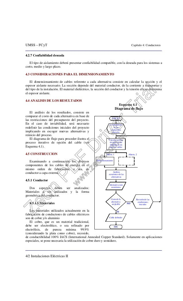 UMSS – FCyT Capítulo 4: Conductores 4/2 Instalaciones Eléctricas II 4.2.7 Confiabilidad deseada El tipo de aislamiento deb...