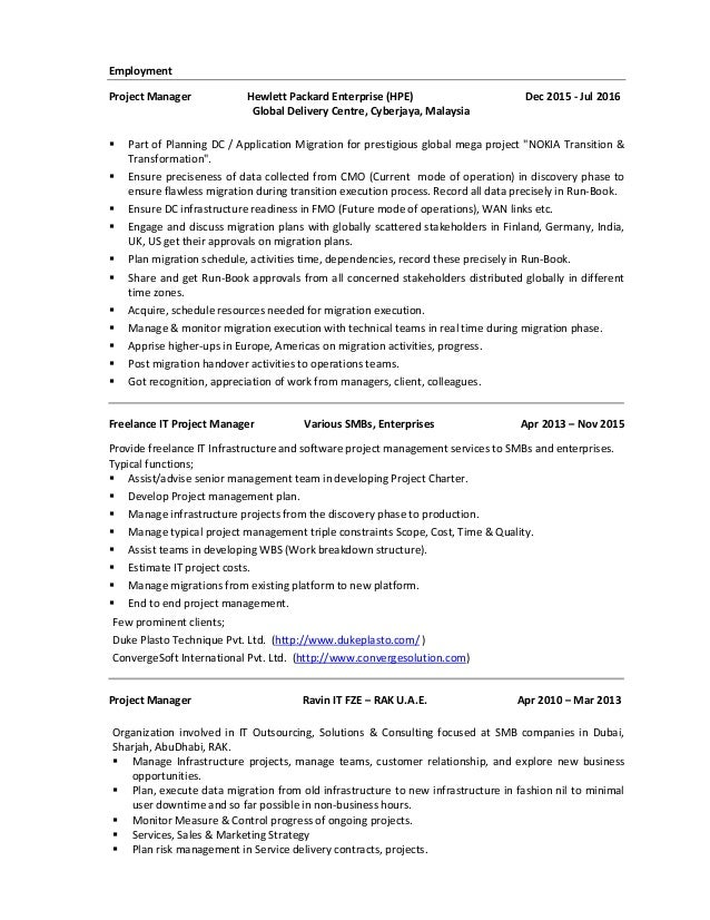 Dc ops resume