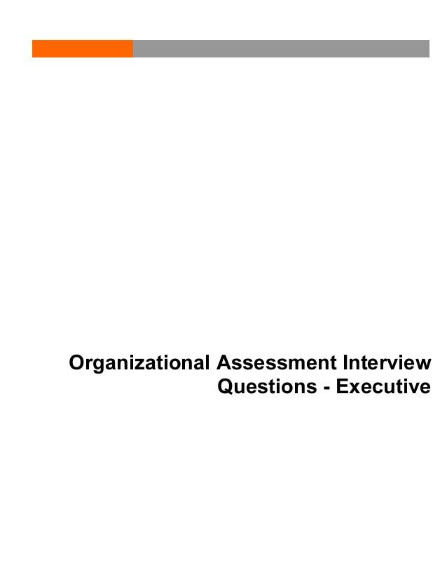 Organizational Assessment Interview Questions - Executive