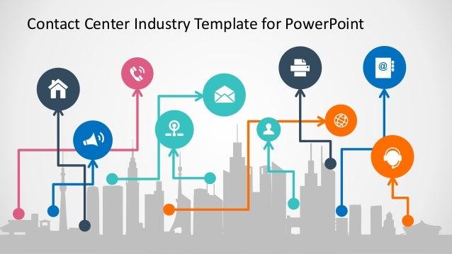 Slidemodel contact center industry powerpoint template 6 contact center industry template for powerpoint toneelgroepblik Gallery