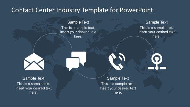 Slidemodel contact center industry powerpoint template toneelgroepblik Gallery