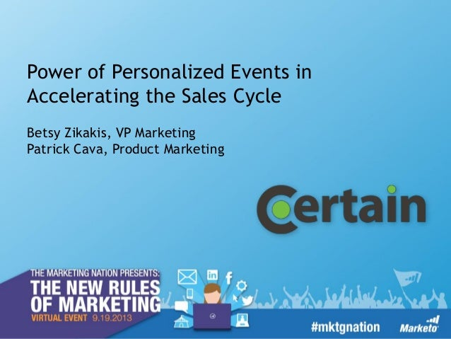 Power of Personalized Event Experiences in Accelerating the Sales Cycle