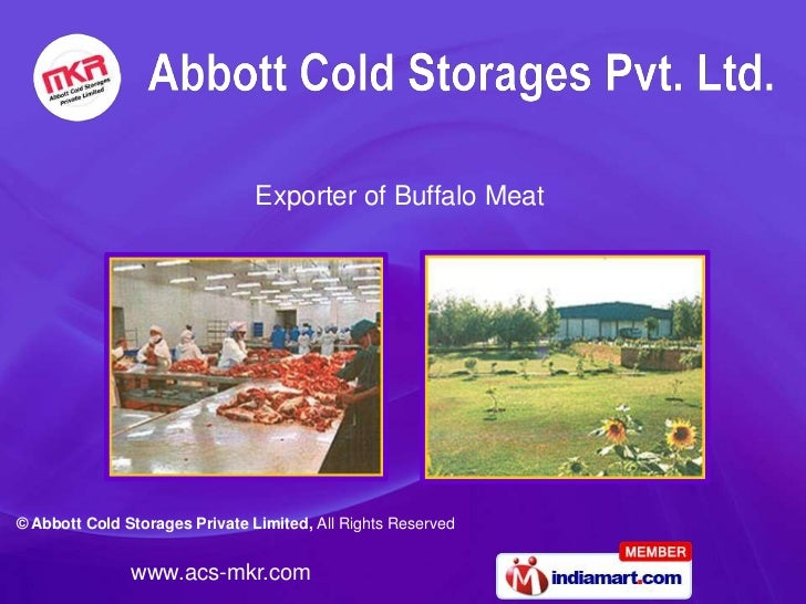 Exporter of Buffalo Meat© Abbott Cold Storages Private Limited, All Rights Reserved               www.acs-mkr.com