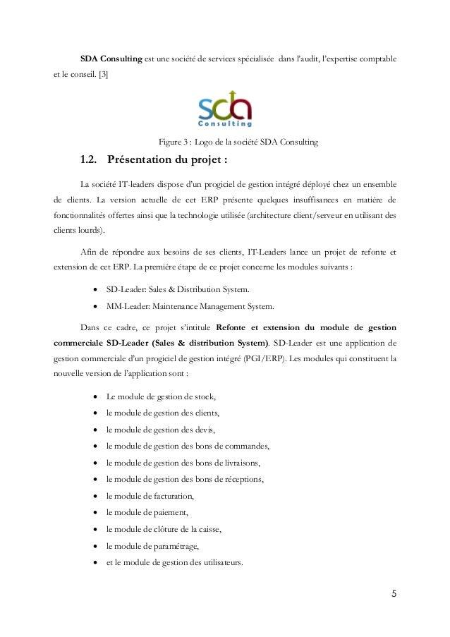 5 SDA Consulting est une société de services spécialisée dans l'audit, l'expertise comptable et le conseil. [3] Figure 3 :...