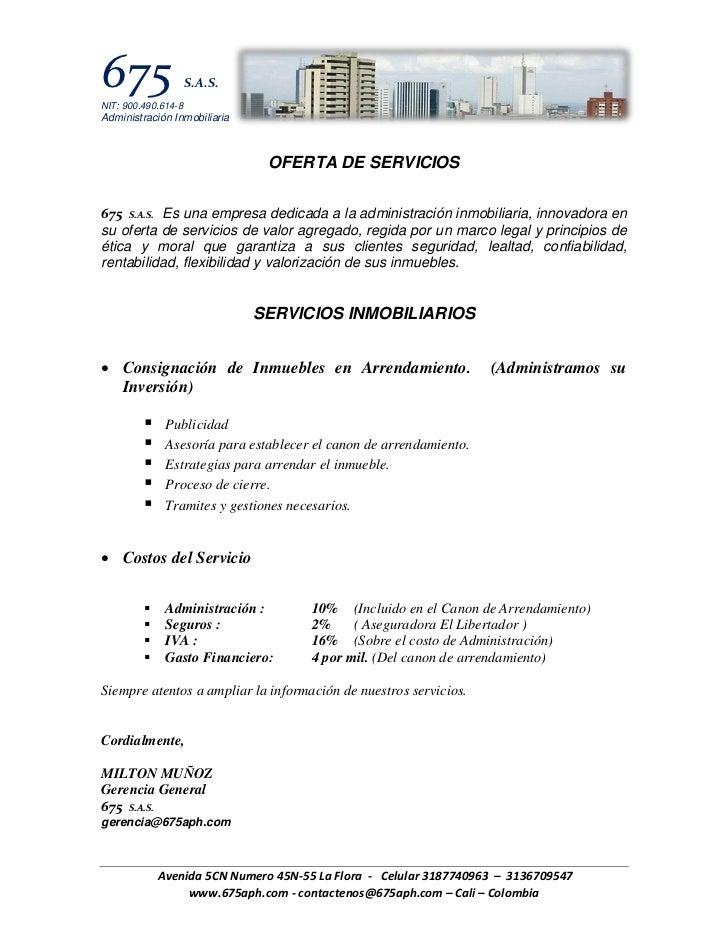 675NIT: 900.490.614-8                     S.A.S.Administración Inmobiliaria                               OFERTA DE SERVIC...