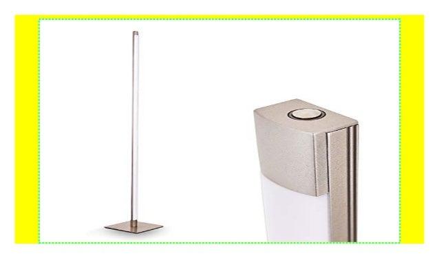 Moderne LED Tischlampe aus Nickel matt mit Glaslampenschirm in weiß TOUCH Dimmer