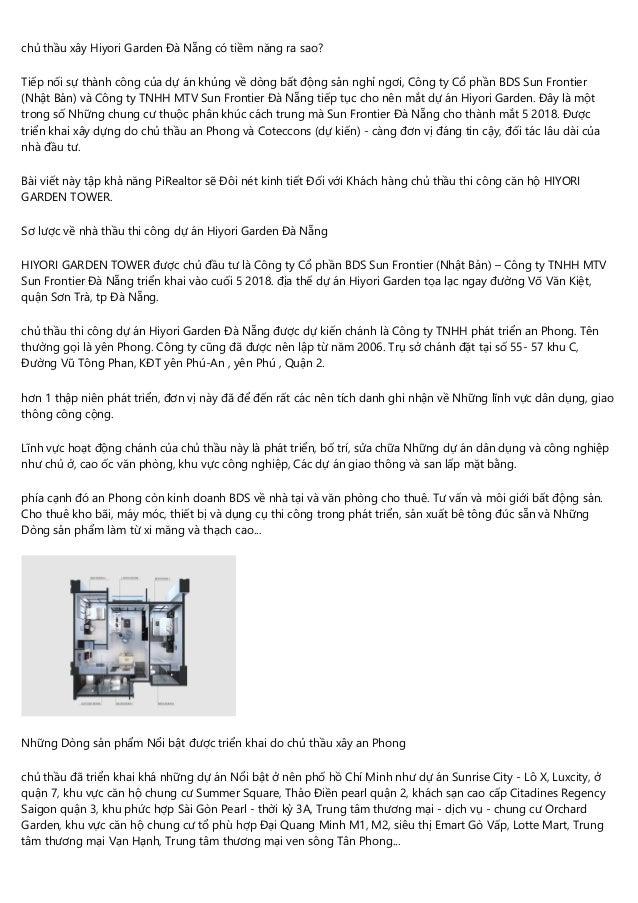 chủ thầu xây Hiyori Garden Đà Nẵng có tiềm năng ra sao? Tiếp nối sự thành công của dự án khủng về dòng bất động sản nghỉ n...