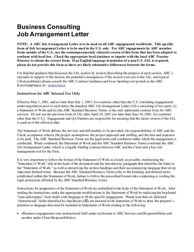 Business plan engagement letter