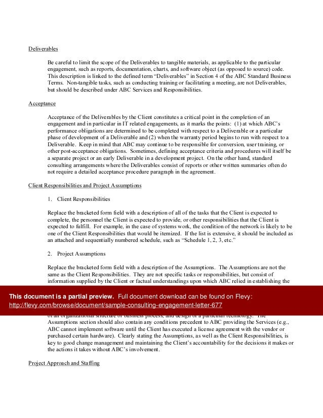 Sample Engagement Letter For Consulting Services Mersnoforum