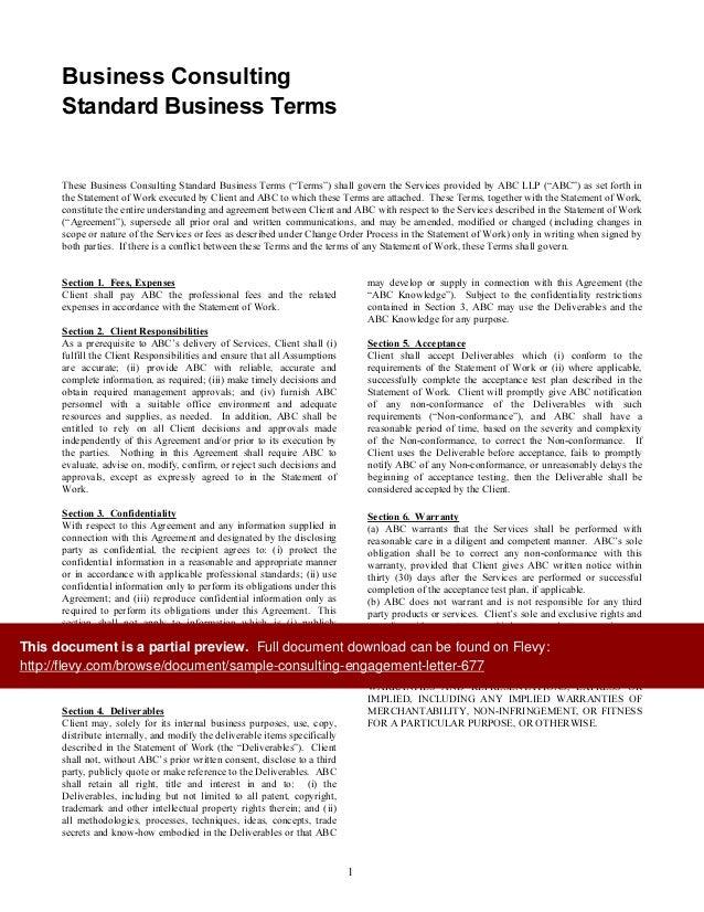 Sample Engagement Letter For Consulting Services Erkal