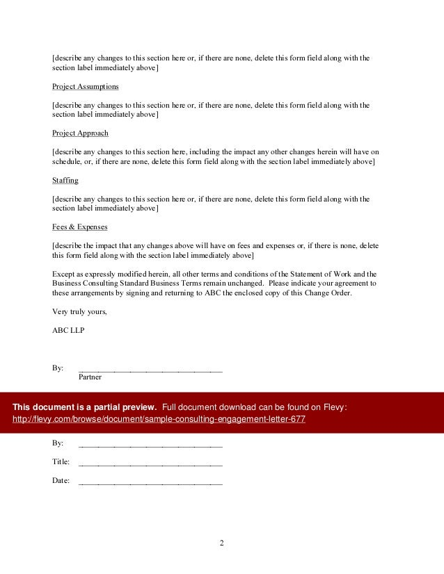 Consulting Engagement Letter Template Letter Template Sample – Letter of Engagement Template Free