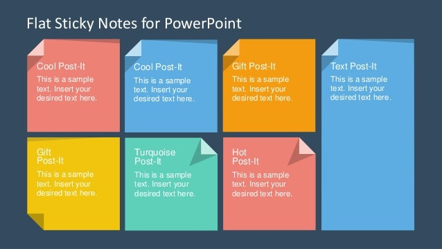 Slidemodel flat sticky notes powerpoint template 2 toneelgroepblik