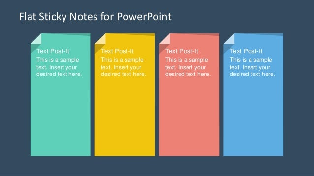 SlidemodelCom  Flat Sticky Notes Powerpoint Template