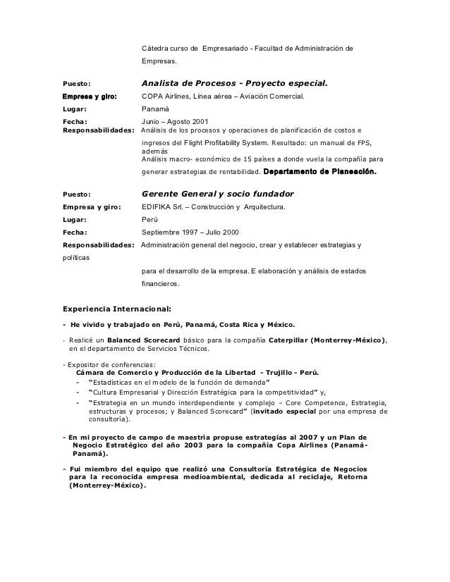 Modelos De Curriculum Vitae En Panama Www Imagenesmy Com