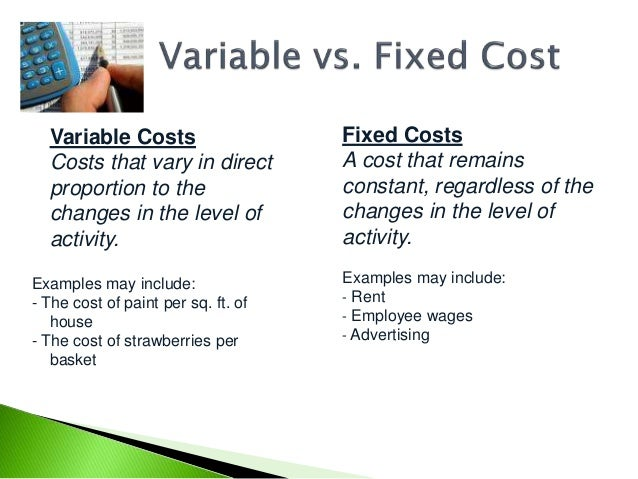 Marketing and variable cost variances essay