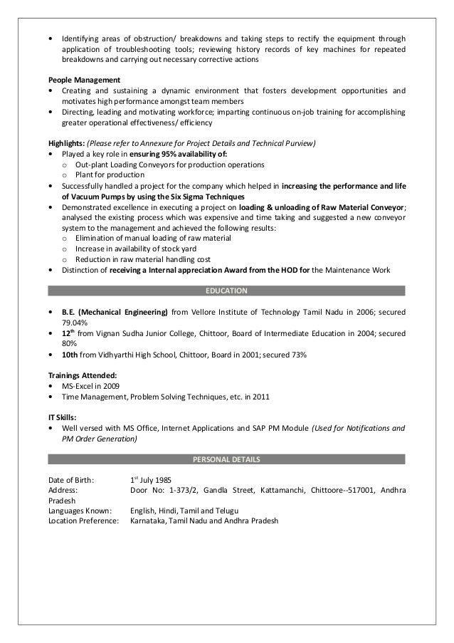 taking corrective action to meet objectives on resume