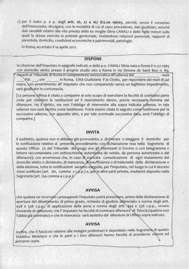 DECRETO CITAZIONE  Slide 2