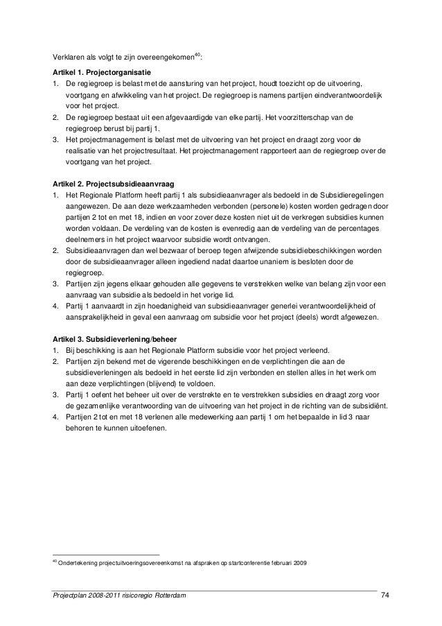 Projectplan lerarentekort Rotterdam 2008