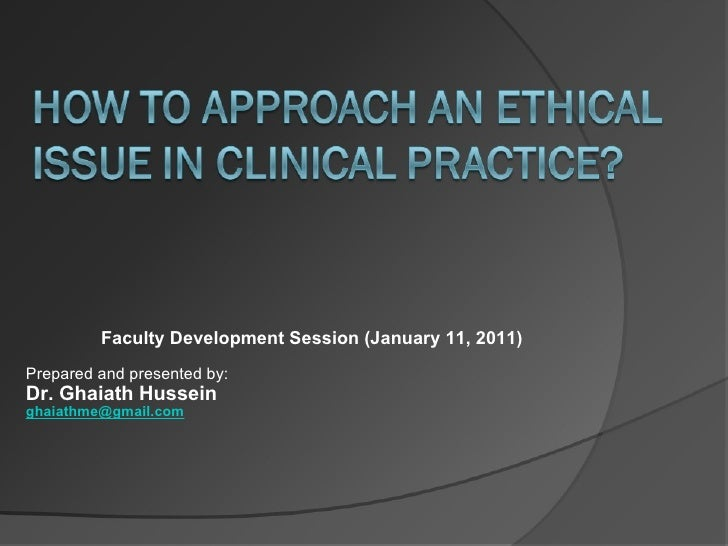 Faculty Development Session (January 11, 2011) Prepared and presented by:  Dr. Ghaiath Hussein [email_address]