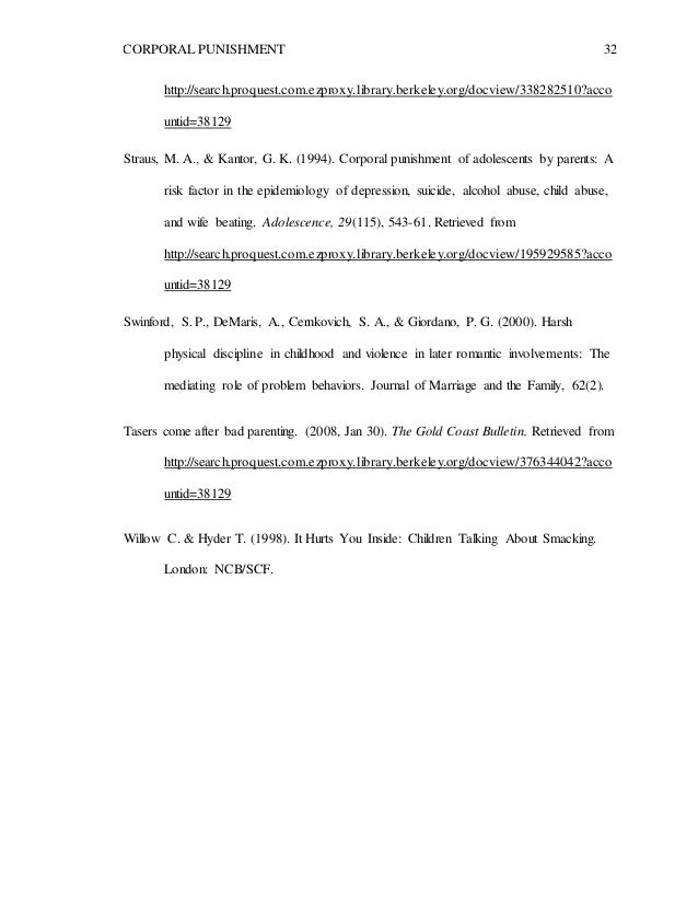 Thesis on corporal punishment how to write cover letter for job sample