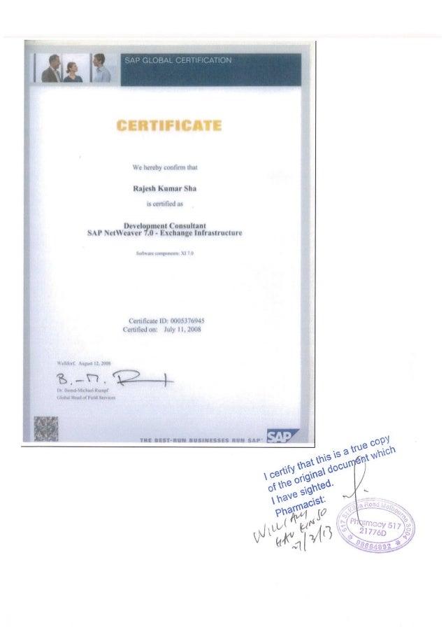 Sap Pi Certificate Id 0005376945